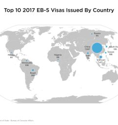 map of top 10 eb5 investor countries in 2017 mgac [ 1024 x 768 Pixel ]