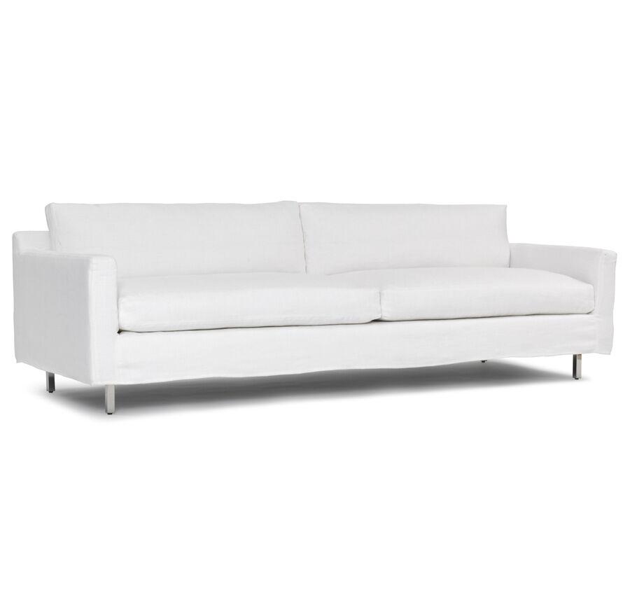 luxe 2 seat sofa slipcover full cover hunter