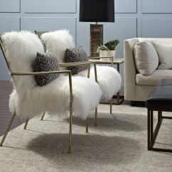 Fur Chair Cover Round Table With 6 Chairs Ansel White Tibetan
