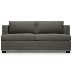 Leather Sleeper Sofa With Nailheads Corner Bed From Poland In Uk Keaton Super Luxe Queen Nailhead Trim Hi Res