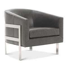 Avery's Chair Covers And More For Sale In Bloemfontein Accent Specialty Chairs Avery Leather Tuscany Grey Slate Hi Res