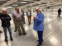 Roger Dudding shows off his new Event space