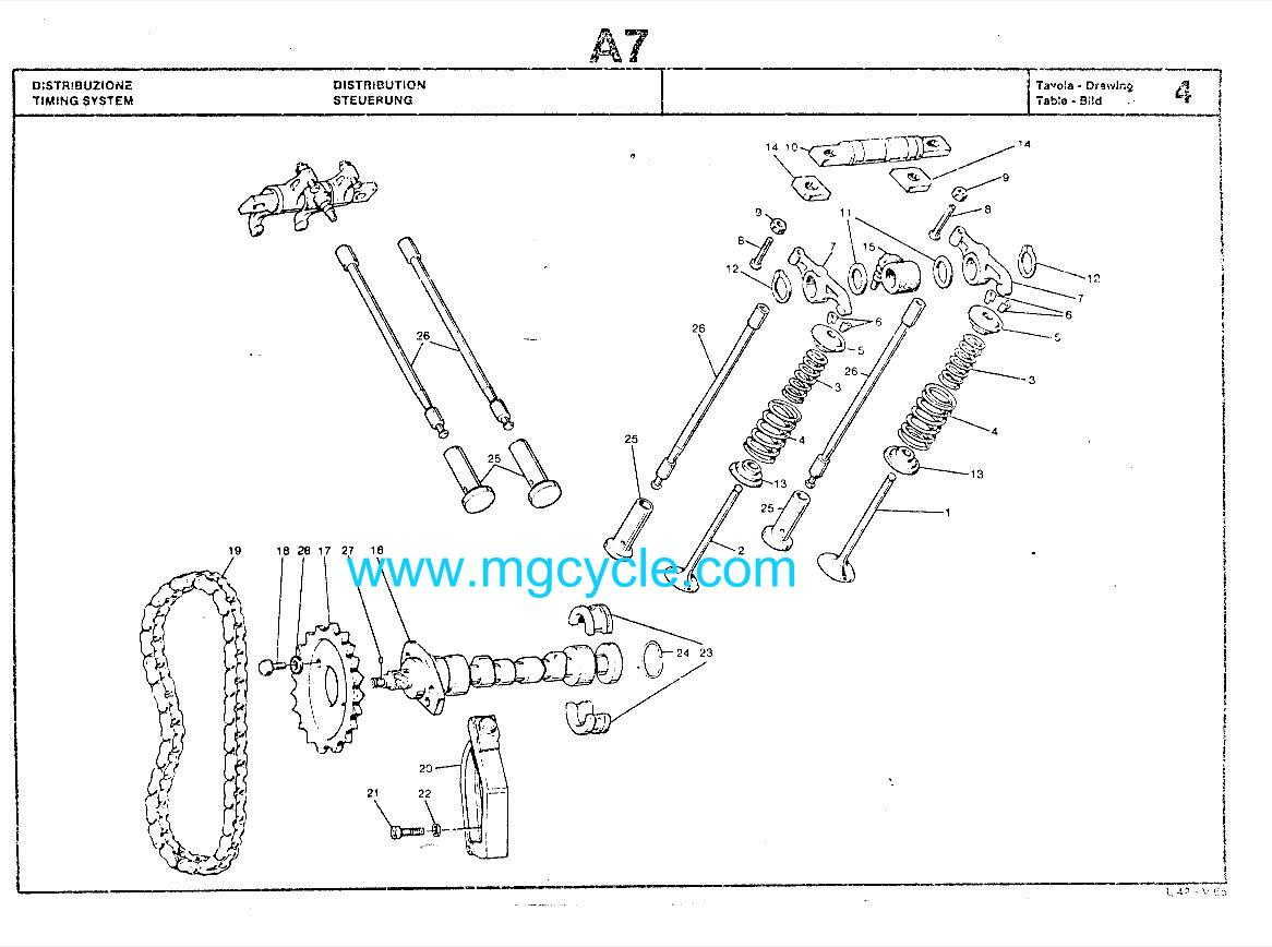 cylinder head : MG Cycle, Moto Guzzi Parts and Accessories