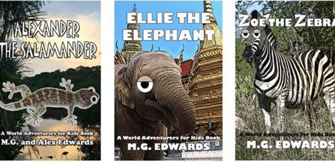 """5a00a8dce7426 The prestigious Foreign Service Journal has featured my World Adventurers  for Kids Books 1-3 collection this year in its annual """"In Their Own Write""""  ..."""