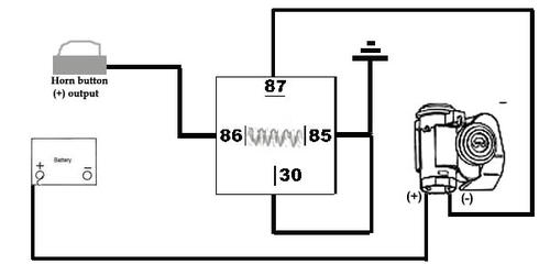 air horn wiring diagram with relay carrier 30gb chiller great installation of question mgb gt forum mg experience rh mgexp com diagrams relays schematic