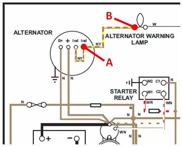 Alt_Schematic?resize=600%2C485 morris minor wiring diagram with alternator wiring diagram,Alternator Indicator Wiring
