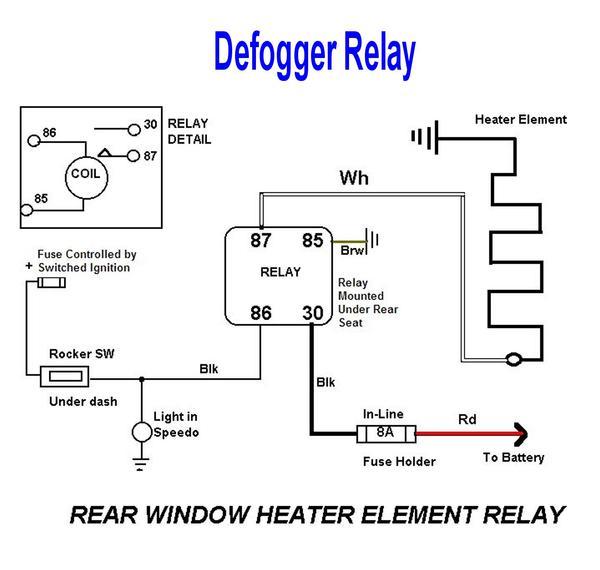 miata rear defrost wiring diagram