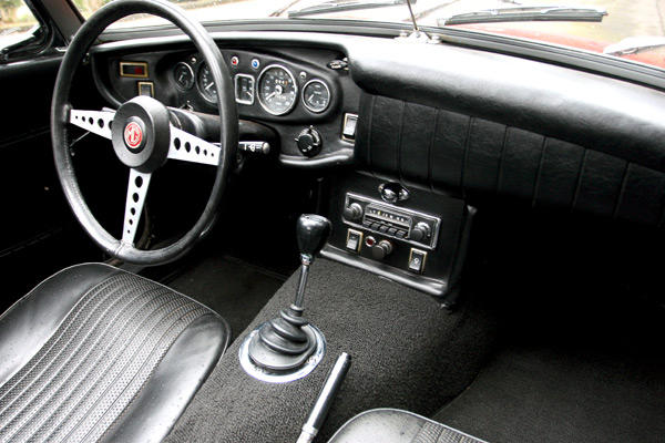 What makes the MGB interior smell so English  MGB  GT
