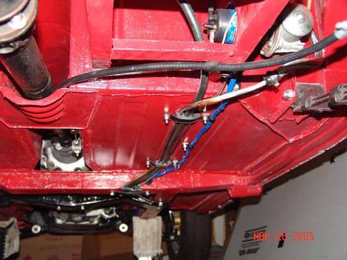 Wiring Harness Restoration Brake And Fuel Line Ocation Under Car Mgb Amp Gt Forum
