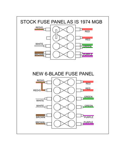 1974 Mgb Fuse Box Diagram. Parts. Wiring Diagram Images