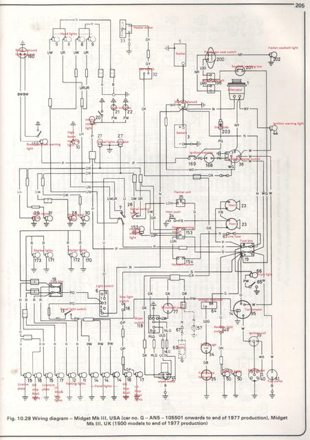 Early 1500 Wiring Diagram MG Midget Forum MG Experience Forums