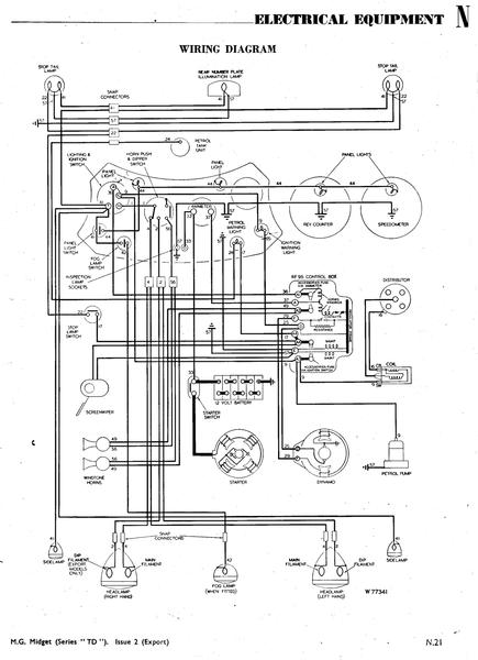 wiring diagram for 1950 TD ( just acquired) : T-Series