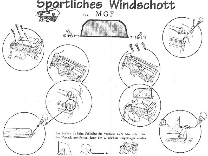 MGF Original Windstop fitting instructions