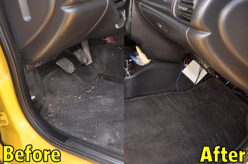 Interior Auto Detailing In Barrie Ontario MGF Carpet