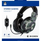 PS4: PS4 Gaming Headset V3 Camo Green Sony licens