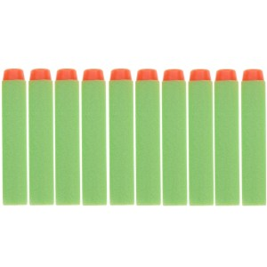 10 PCS 7.2cm EVA Soft Blaster Darts Bullets(Green)