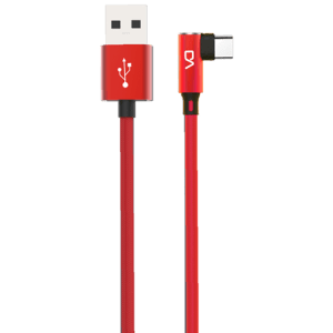 Marvo 90° Data Cable Micro (Punainen)