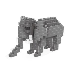 Elephant Pattern Plastic Diamond Particle Building Block Lego Assembled Toys