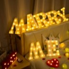 Alphabet English Letter A Shape Decorative Light, Dry Battery Powered Warm White Standing Hanging LED Holiday Light