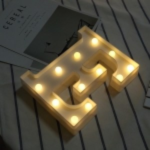 Alphabet English Letter E Shape Decorative Light, Dry Battery Powered Warm White Standing Hanging LED Holiday Light