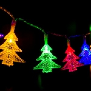 4m Water Resistant RGB Modeling String Lights, 20 LEDs Christmas Tree Without End Joint and Controller, AC 110V-220V(Colorful Light)