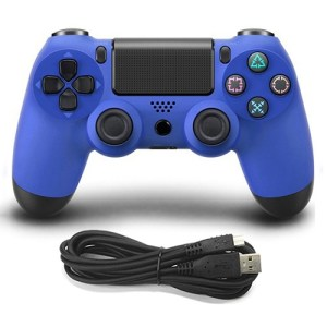 PS4: DoubleShock 4 langallinen ohjain (Blue)