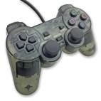 PS2: PS2 Läpinäkyvä Tarvikeohjain (Musta)