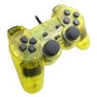 PS2: PS2 Läpinäkyvä Tarvikeohjain (Keltainen)