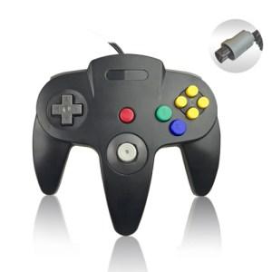 Retro: Nintendo 64 Ohjain, Black (ei original)