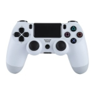 PS4: (White)Doubleshock 4 Wireless Game Controller for Sony PS4(White)
