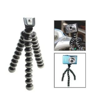 Flexible Grip Camera Tripod for Mini Digital Camera(Black)