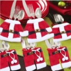 2 PCS Clothes Style Christmas Decoration Party Dinner Table Silverware Holders Pockets Diet Tools Decor Bag