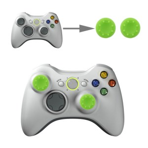 PS4: 2 PCS Silicone Key Protector Thumb Grips Joystick Caps for PS4 & XBOX (Green)
