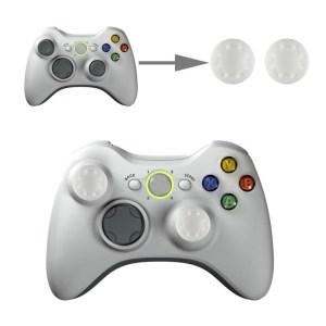 PS4: 2 PCS Silicone Key Protector Thumb Grips Joystick Caps for PS4 & XBOX (White)