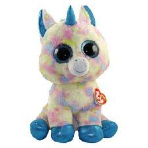 TY Beanie Boos BLITZ - Blue unicorn clip