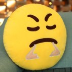 Another Angry Face Creative Emoji Throw Pillow Back Pillow, Size: About 28cm x 28cm
