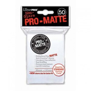 UP - Standard Sleeves - Pro-Matte - Non Glare - White (50 Sleeves)