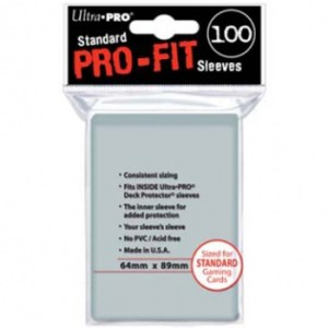 UP - Standard Sleeves - Pro-Fit Card Clear (100 Sleeves)