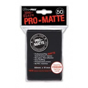 UP - Standard Sleeves - Pro-Matte - Non Glare - Black (50 Sleeves)