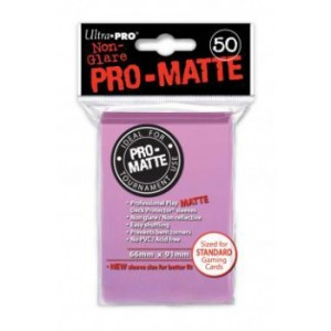 UP - Standard Sleeves - Pro-Matte - Non Glare - Pink (50 Sleeves)