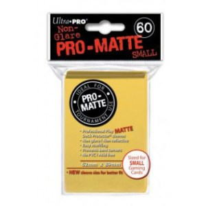 UP - Small Sleeves - Pro-Matte - Yellow (60 Sleeves)