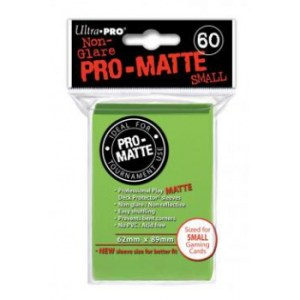 UP - Small sleeves - Pro-Matte - Lime Green (60 Sleeves)