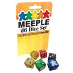 Meeple d6 Dice Set – Black