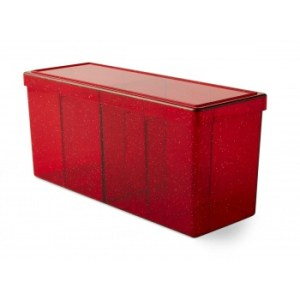 Dragon Shield Four-Compartment Box - Ruby