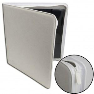12-Pocket Premium Zip-Album - White