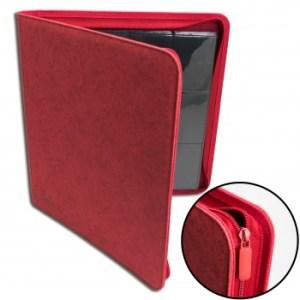 12-Pocket Premium Zip-Album - Red