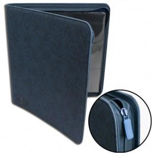 12-Pocket Premium Zip-Album - Blue