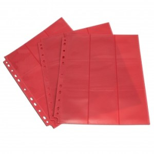 18-Pocket Pages - Red - Sideloading (50 pcs)