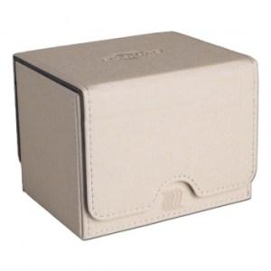 Convertible Premium Deck Box Single Horizontal 100+ Standard Size Cards - White