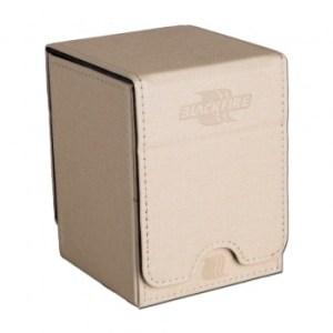 Convertible Premium Deck Box Single Vertical 100+ Standard Size Cards - White